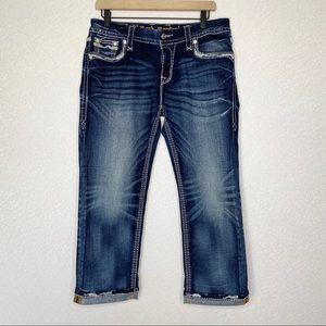 Rock Revival   Ruella Easy Capri Jeans Size 29